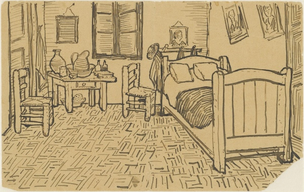 The bedroom - To Theo from Arles October 1888